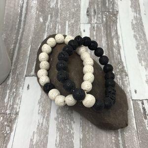 Jewelry - Beautiful lava couples bracelet set